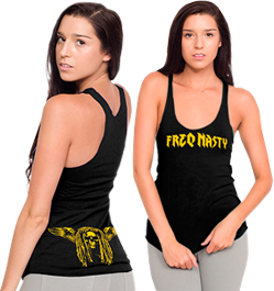 Ladies Tank - Black | View Larger with Sizing Chart