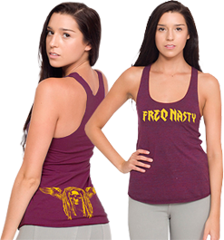 Ladies Tank - Cranberry | View Larger with Sizing Chart